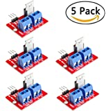ANIMOAO 5PCS IRF520 MOSFET Driver Module Button Drive for Arduino ARM Raspberry PI