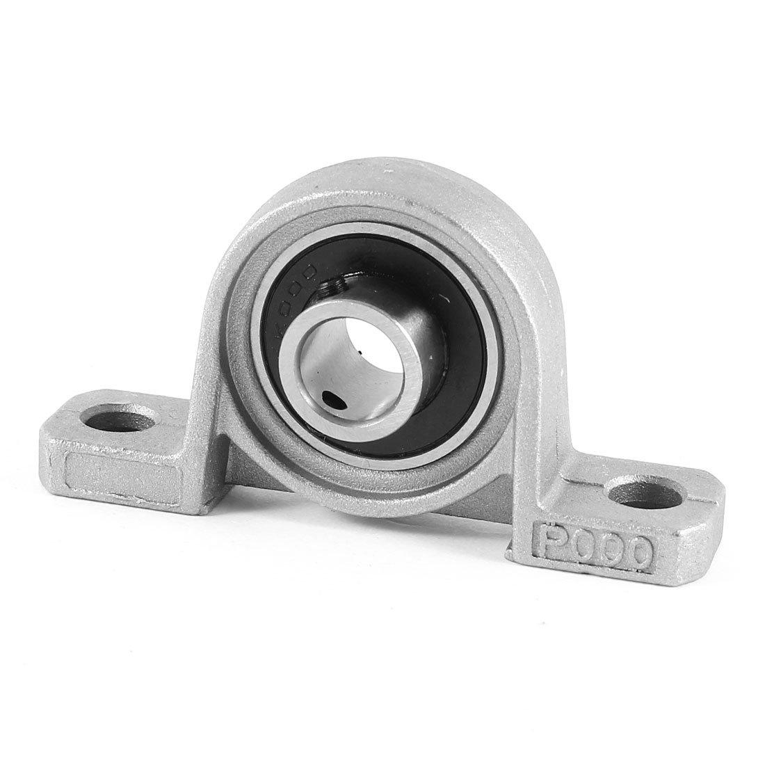 sourcing map KP000 Pillow Block Housing Ball Bearing 10mm Inner Diameter Iron Alloy US-SA-AJD-58415