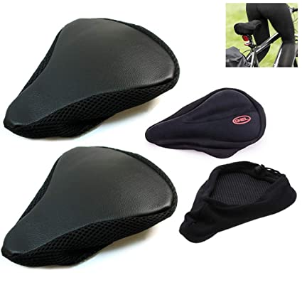 Padded Bike Bicycle Cycle Seat Cover Comfortable Ride Soft Cushion Saddle Cover