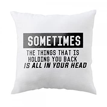 Amazon Sometimes The Thing That Is Holding You Back Is All In Best Pillow That Covers Your Head