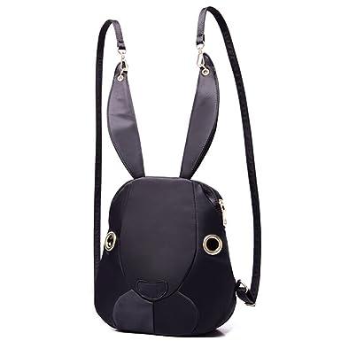 84a35162cf4c Hibelief Women Backpacks Rabbit Shaped Satchels Daypacks Shoulder Bags  (Black)