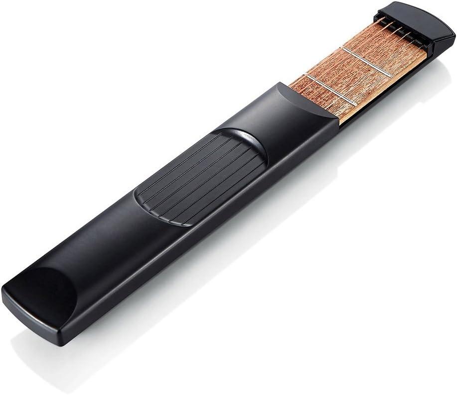 Herramienta port/átil de cuerdas para practicar guitarra negro. De madera Traste Yafine R2