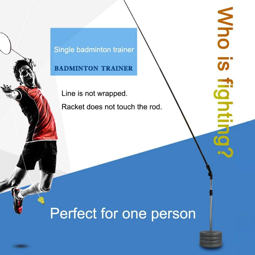 Badminton Practice Trainer Telescopic Elastic Rod Portable Kids Adult Self-study Rebound Power Base For Badminton Learners