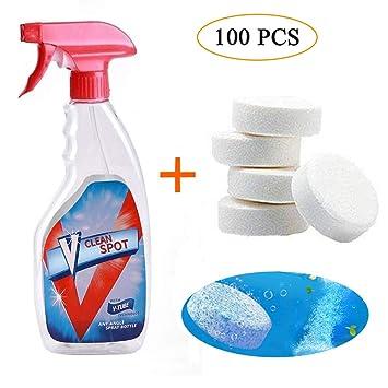 Leegoal Multifuncional Efervescente Spray Cleaner con la Un Botella, Limpiador Vidrio Propósito Concentrado Spray Herramienta