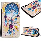 Cistor Strap Flip Case for Samsung Galaxy S8,Stylish 3D Art Painted Stand Wallet Case for Samsung Galaxy S8,Shockproof Slim Fit PU Leather Case with Card Slot Magnetic Closure Ring Holder,Dreamcatcher
