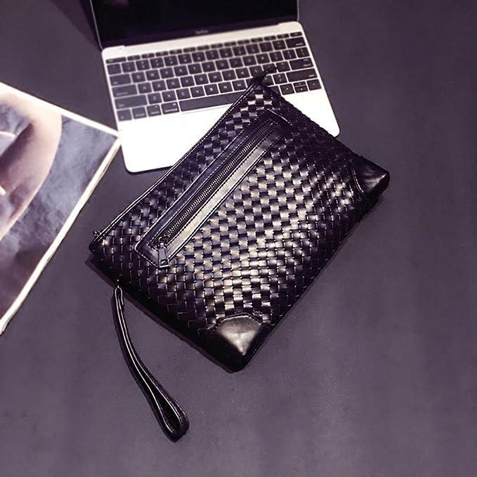 7b68c6945280e aiurbag PU Leder gewebt Handgelenk Handtasche Portemonnaie für Herren   Amazon.de  Sport   Freizeit
