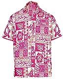 La Leela Men's Aloha Hawaiian Shirt Short Sleeve Button Down Casual Beach Party Green