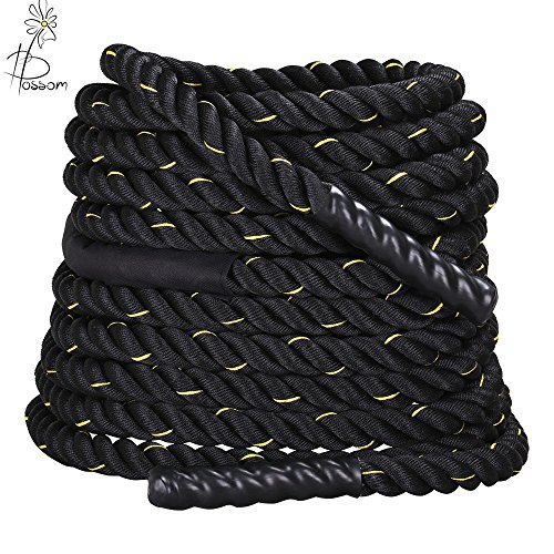 Price comparison product image 1.5''x40' Battle Rope Strength Power Fitness Training Gym Cardio Sport Workout by Blossom Store