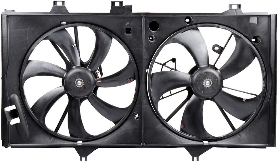 ECCPP Condenser Radiator Cooling Fan Assembly Replacement fit for 2012-2017 Toyota Camry 2.5 L