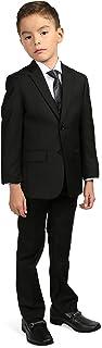 Ferrecci Boys 5 Piece Suit Set - Blazer Jacket-Dress Pants-Vest-Necktie-Dress Shirt