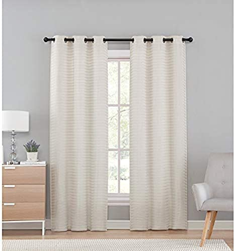 VCNY Home Marcus Window Treatment Curtains 76x95, Ivory