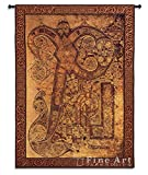 Fine Art Tapestries ''Book of Kells Chi Rho Illumination'' Wall Tapestry
