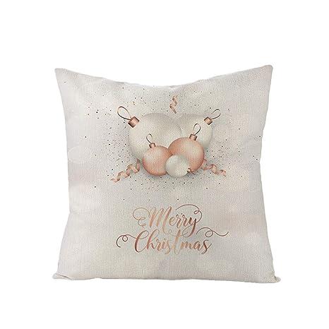 RIsxffp Merry Christmas Tree Snowflake Star Funda de cojín ...