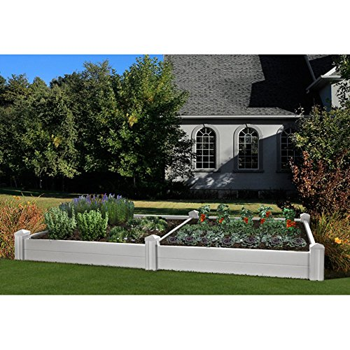 New England Arbors Versailles Raised Garden Bed with Extension Kit