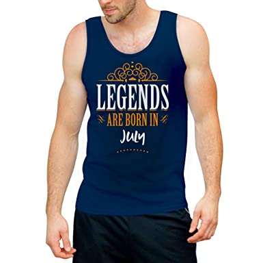 Legends are born in Juli - Geschenke Tank Top Small Blau
