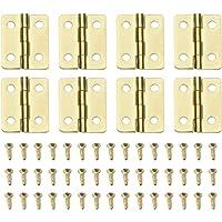 Bisagras Bisagras Mini Gabinete De Cobre Retro De Lat/ón Peque/ñas Bisagras De Hardware para El Rect/ángulo De Madera del Gabinete Y Accesorios De Bricolaje 20pcs