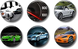 Fun Locker Magnets For Boys - Super Sports Cars - School Supplies - Whiteboard Office or Fridge - Funny Magnet Gift Set (Cars)