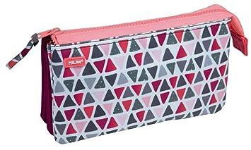 Portatodo Milan Geo Pink con 5 Compartimentos: Amazon.es ...