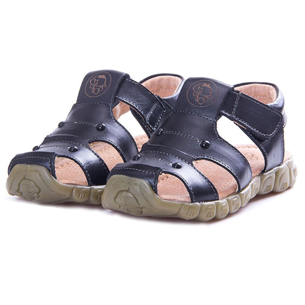 GIY Boy's Girl's Leather Closed Toe Outdoor Sport Sandals Fisherman Sandal For Kids (Toddler/Little Kid)