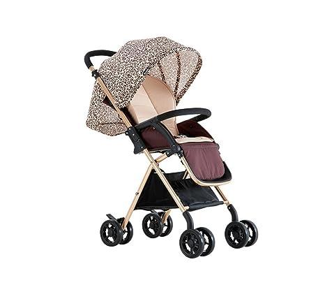 ZELIAN Paisaje Alto Carrito para bebés Ultralight Fold Paraguas Coche Carrito para niños Vehículo de Cuatro