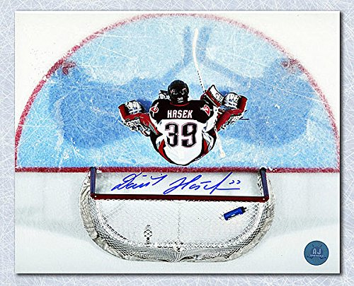 Dominik Hasek Buffalo Sabres Autographed 8X10 Overhead Photo - Signed Hockey Pictures by Sports Collectibles Online