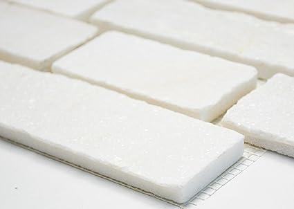 Rete mosaico mosaico piastrelle Brick bianco ardesia pietra naturale ...