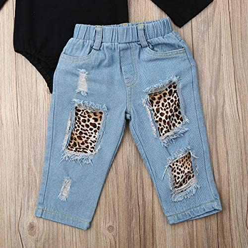 Valentine's Day Toddler Baby Girl Leopard Outfits Funny Letter Long Sleeve Top Leo Pants 2 Pieces Clothes Set