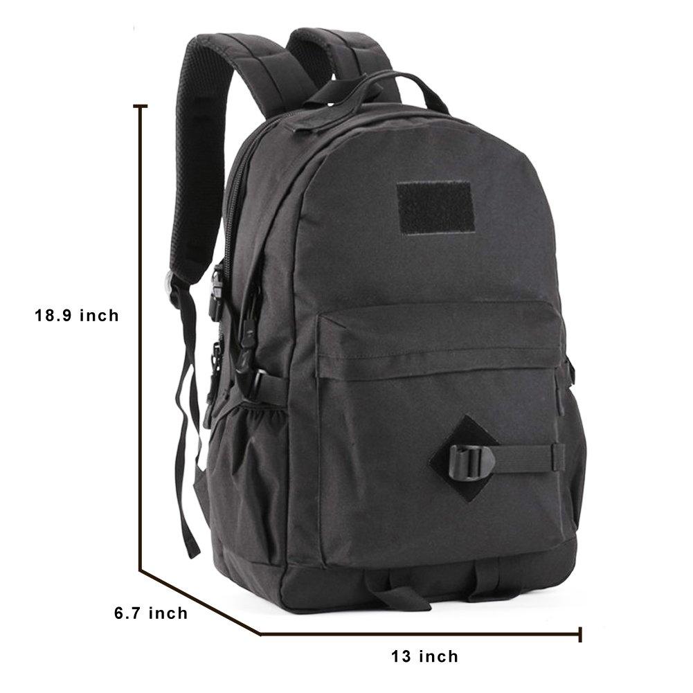 outwolf 40L Casual mochila de viaje mochila ligera al aire libre bolsa (negro): Amazon.es: Deportes y aire libre