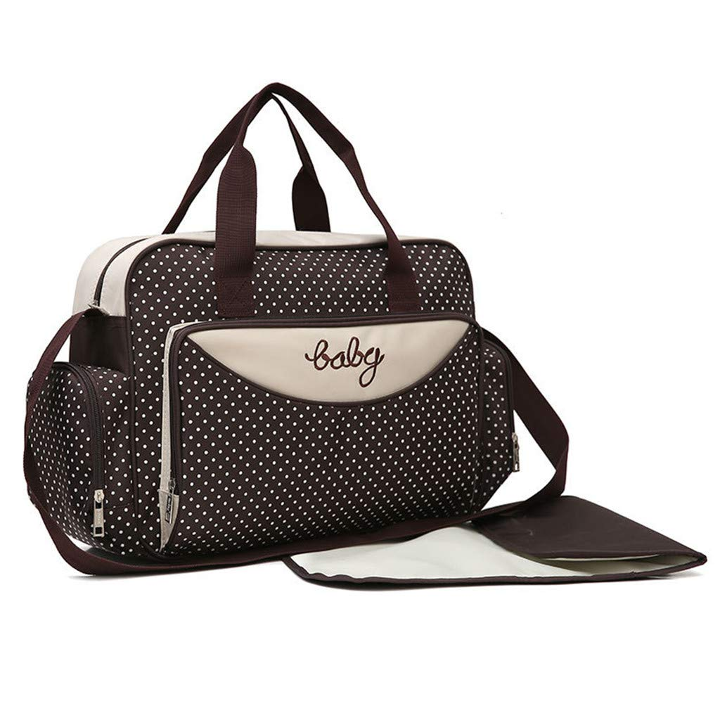 Baby Diaper Nappy Change Mat Bag Mummy Shoulder Handbag Bohemian Style Sea Blue