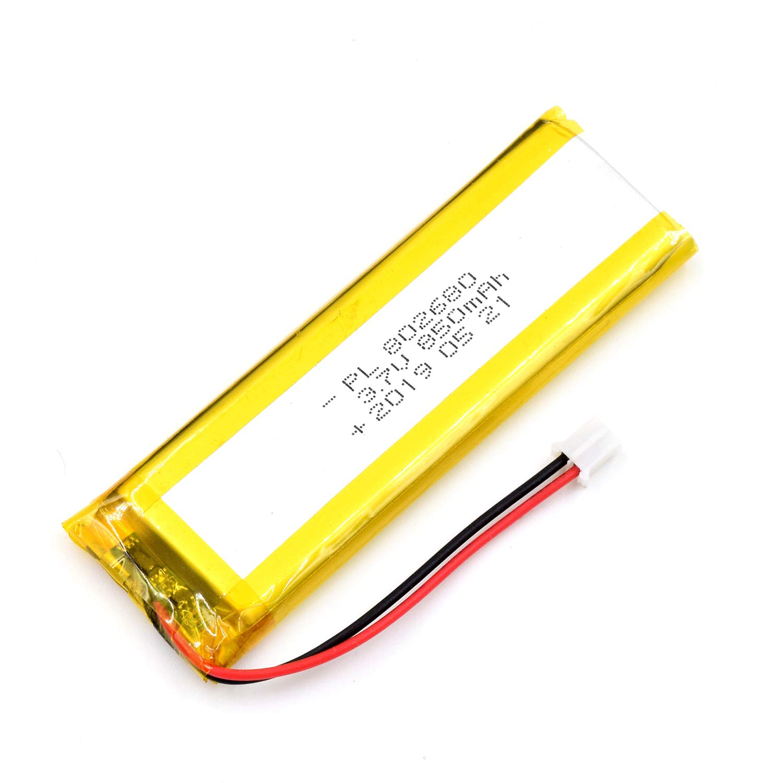 Bateria Lipo 3.7V 850mAh 802680 Recargable JST Conector