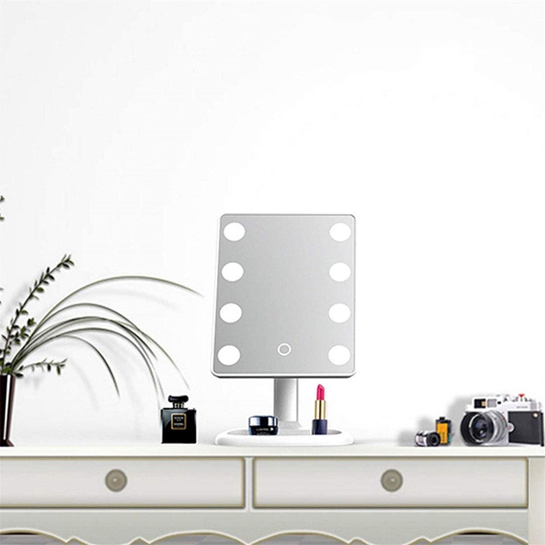 Espejo cosm/ético Espejo de Maquillaje Ajustable de 8 Luces para la Mesa de Maquillaje Vestidor Dormitorio Espejos de tocador con Luces YYHAD Espejo de Maquillaje LED Espejo de tocador port/átil