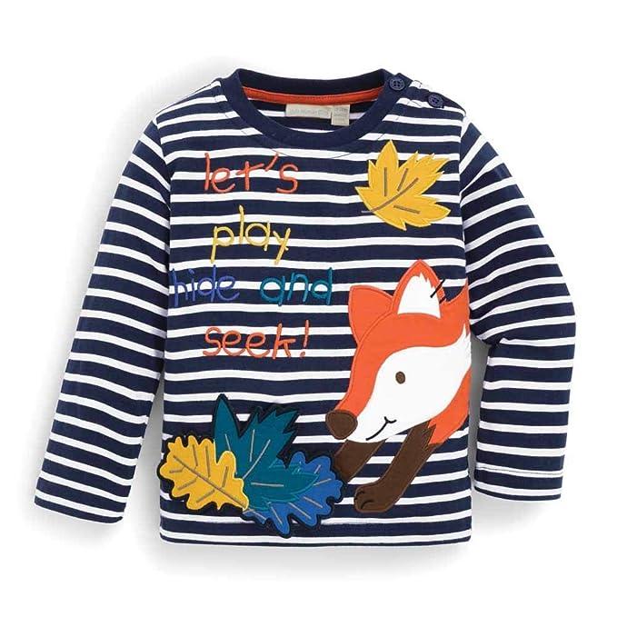 Amazon.com: JoJo Maman Bebe Fox Hide & Seek Top: Clothing