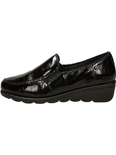 scarpe donna tipo mocassino in pelle lucida marca