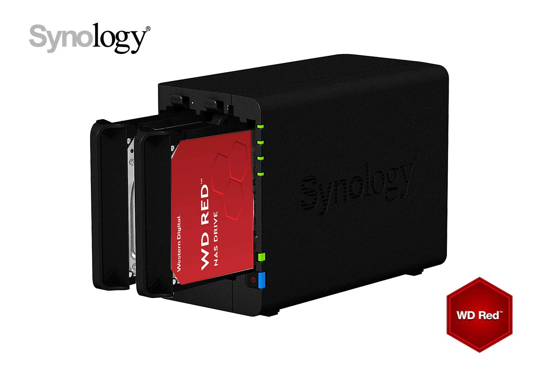 Synology Server NAS a 2 pannelli nero 8TB