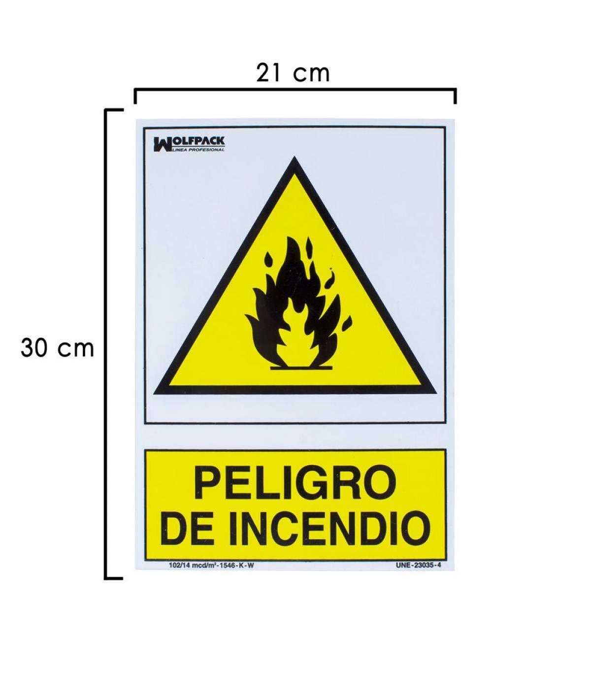 Wolfpack 15051260 Cartel Peligro De Incendio 30x21: Amazon ...