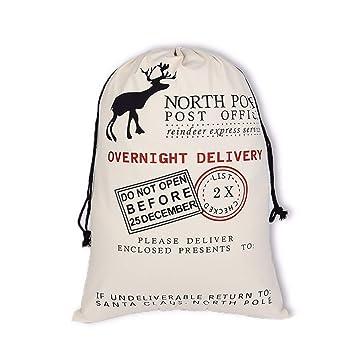 Amazon.com: Bolsa de regalo de Navidad con diseño de Papá ...