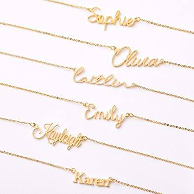 Gold Custom Name Necklace Personalized