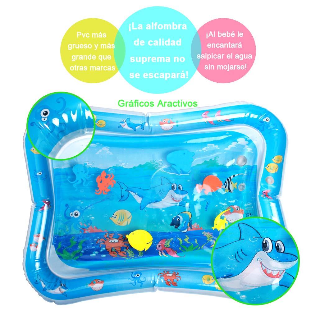 StillCool Estera inflable del agua del bebé 66 * 50, Inflatable Baby Water Mat estera del juego del agua para los niños y los bebés