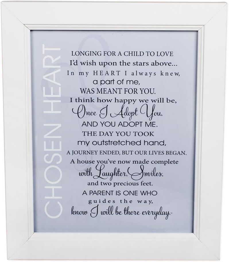 Abuelo regalo adopción elegido corazón poema 8x 10con marco blanco placa