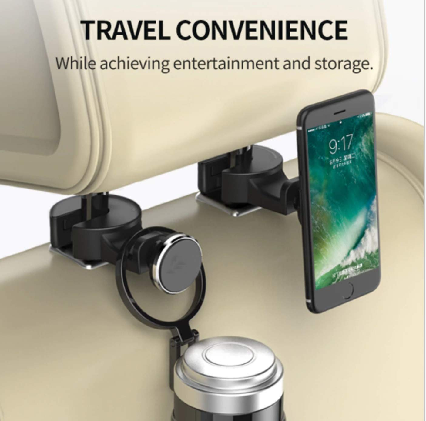 Shot Case - Support Voiture Appuie TÃ ª te IPHONE 7 Plus Smartphone Tablette Magnetique Arriere Enfant Aimant Universel 360 Rotatif 893424