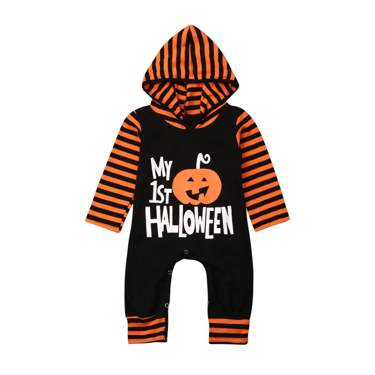 para Halloween y ni/ños de 0 a 18 Meses WANGSGOGO Mono de Manga Larga con Capucha para beb/és y ni/ñas