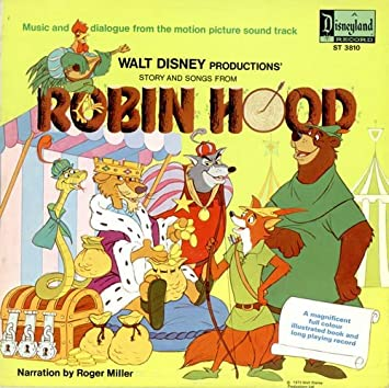 Roger Miller Walt Disney Productions Story And Songs From Robin
