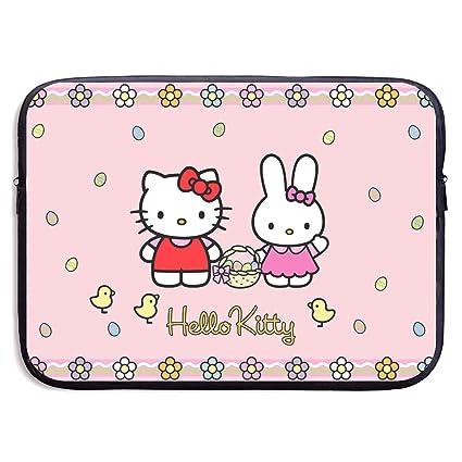 huge selection of 13303 9cf15 Amazon.com: Laptop Sleeve Shockproof Soft Carrying Bag Hello Kitty ...
