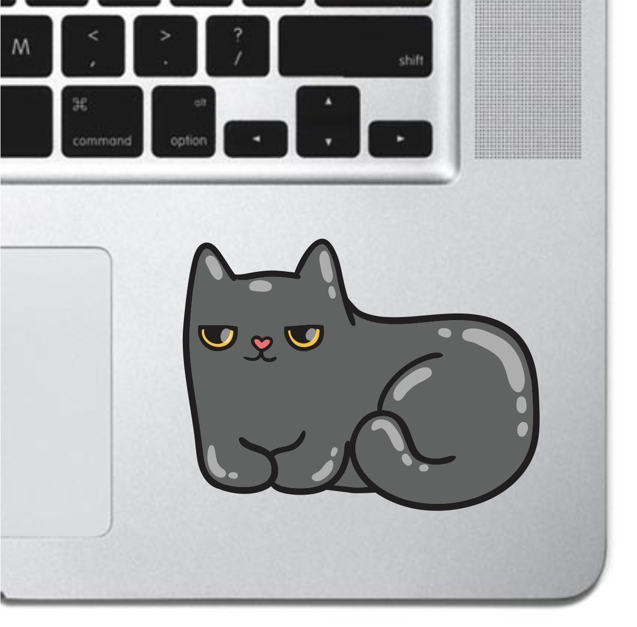 Grumpy Cat Laptop Sticker Keyboard, Keypad Vinyl Macbook Decal Sticker - Skin Track Pad MacBook Pro Air 13 15 17 iPad Laptop Decal iPad Sticker Kitten Sticker Cartoon Sticker