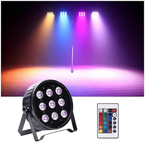 U`King Stage Light RGBW, 9 LEDs x 10W Party Lights with IR Remote Control  and DMX Controller for Stage Lighting Wedding Holiday Show Club Pub Disco DJ