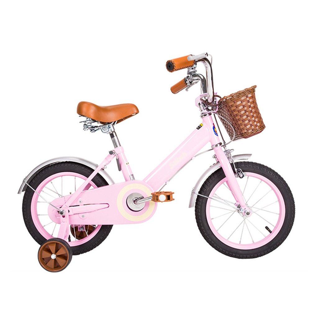 Gai Huaホーム子供用自転車高炭素鋼フレーム子自転車16 /14 /12インチ自転車2 – - 5年古い赤ちゃんキャリッジ 12 inches ピンク B07DQJQ948