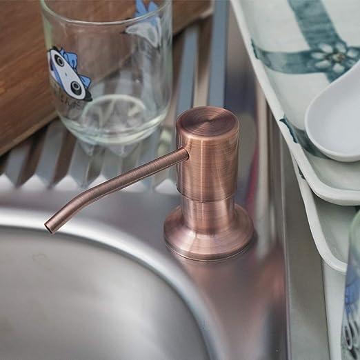 Amazon.com: Dispensador de jabón para fregadero de cocina ...
