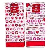 Valentines Microfiber Kitchen Towels - Set Of 2