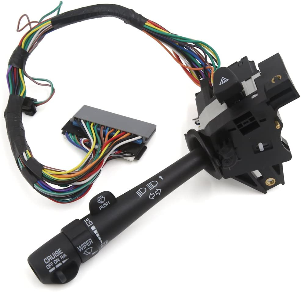 22510733 Turn Signal Switch Multi-Function Combination Switch Replacement Parts For 1982-96 Buick Century Black Delay Wipers without Cruise Control Dorman 49277 1982-89 Buick Elect