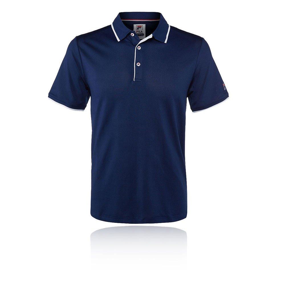 Fila Men's Heritage Mesh Polo Shirt, Navy, M